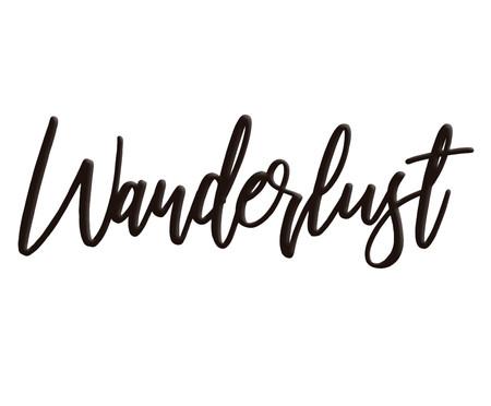 Placa de Madeira Decorativa Wanderlust - Preto | WestwingNow