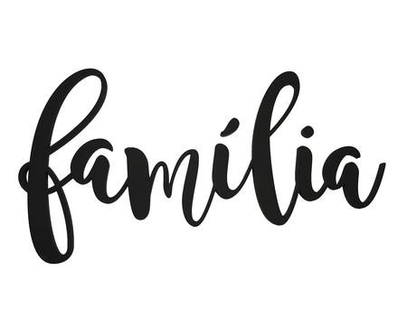 Placa de Madeira Decorativa Família - Preto | WestwingNow