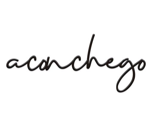 Placa Decorativa Aconchego Lettering - Preta, preto | WestwingNow