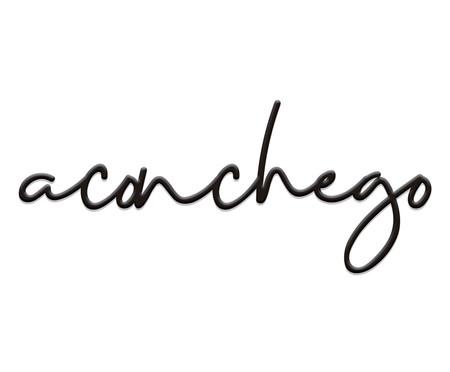 Placa Decorativa Aconchego Lettering - Preta | WestwingNow
