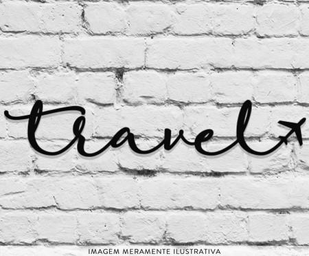 Placa de Madeira Decorativa Travel - Preta | WestwingNow