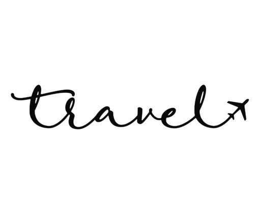 Placa de Madeira Decorativa Travel - Preta, preto | WestwingNow