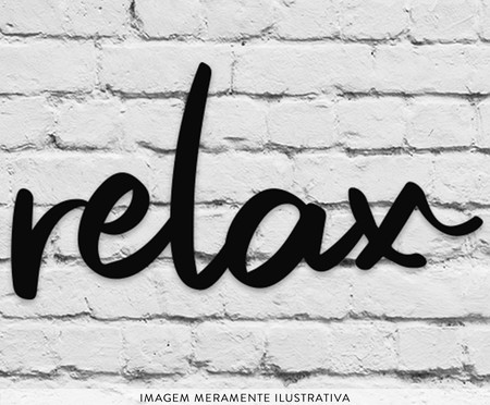 Placa de Madeira Decorativa Relax - Preta | WestwingNow