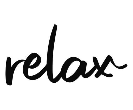 Placa de Madeira Decorativa Relax - Preta, preto | WestwingNow