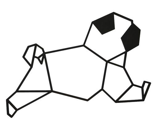 Placa de Madeira Decorativa Pug Geométrico  - Preta, preto | WestwingNow
