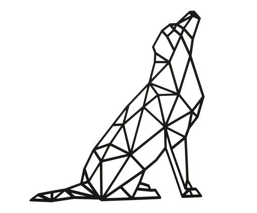 Placa de Madeira Decorativa Geométrica Labrador - Preta, preto | WestwingNow
