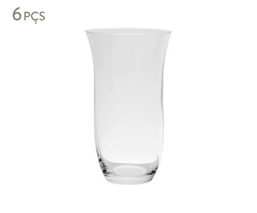 Jogo de Copos para Água em Cristal Lizzie - Transparente, Transparente   WestwingNow
