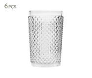 Jogo de Copos para Água em Vidro Ayla - Transparente | WestwingNow