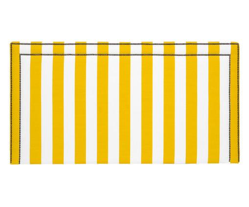 Cabeceira Painel em Linho Adele - Listrada Amarela, Branco, Amarelo, Colorido   WestwingNow