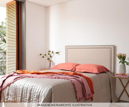 Cabeceira Painel em Linho Adele - Listrada Amarela | WestwingNow
