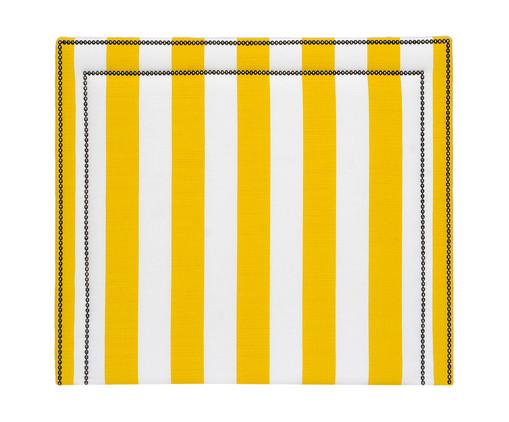 Cabeceira Painel em Linho Adele - Listrada Amarela, Branco, Amarelo, Colorido | WestwingNow