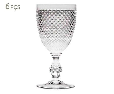 Jogo de Taças para Vinho em Acrílico Lucy 06 Pessoas - Transparente | WestwingNow