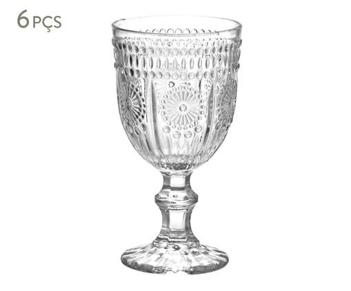 Jogo de Taças para Vinho em Vidro Julie 06 Pessoas - Transparente, Transparente | WestwingNow