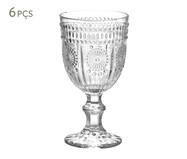 Jogo de Taças para Vinho em Vidro Julie 06 Pessoas - Transparente | WestwingNow