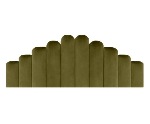 Cabeceira Painel em Veludo Royal Gomos - Verde, Verde | WestwingNow