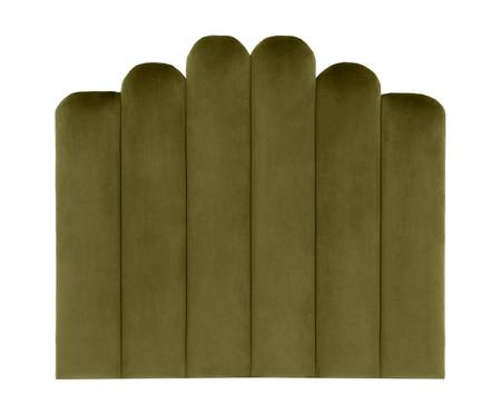 Cabeceira Painel em Veludo Royal Gomos - Verde | WestwingNow