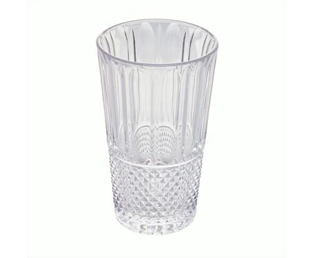 Jogo de Copos em Cristal Grunge - Transparente | WestwingNow