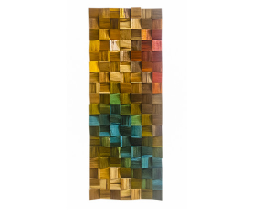 Quadros De Madeira 3D Fly - Colorido, multicolor | WestwingNow