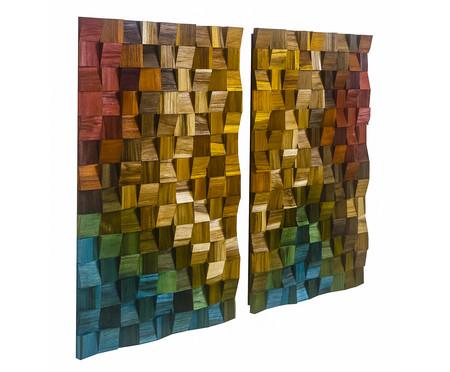 Quadros De Madeira 3D Antares - Colorido | WestwingNow