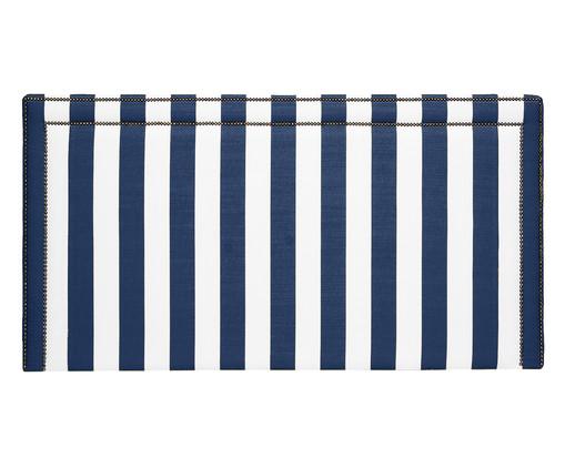 Cabeceira Painel em Linho Adele - Listrada Azul, Branco, Azul, Colorido | WestwingNow