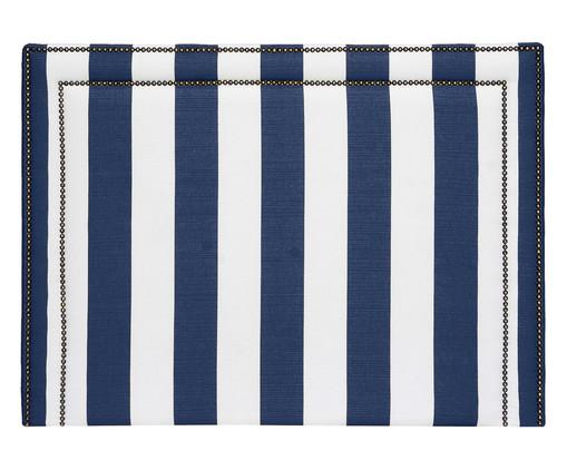 Cabeceira Painel em Linho Adele - Listrada Azul, Branco, Azul, Colorido   WestwingNow