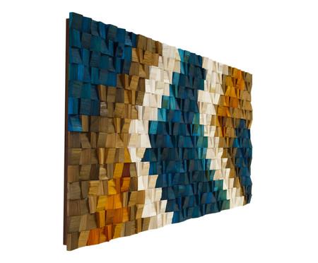 Quadro de Madeira 3D Lokene Colorido - 170x70cm | WestwingNow
