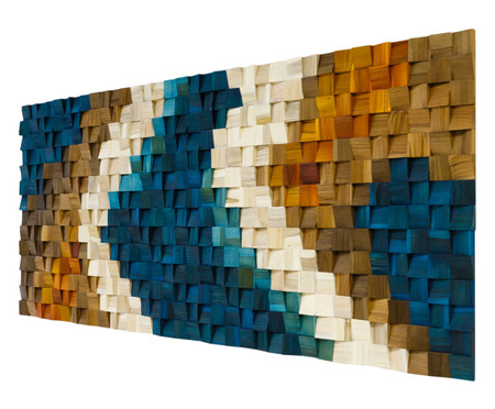 Quadros de Madeira 3D Lokene - Colorido | WestwingNow