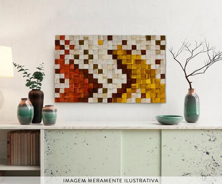 Quadro de Madeira 3D Lopaka Colorido - 115x70cm | WestwingNow