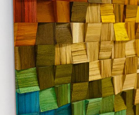 Quadros De Madeira 3D Alena - Colorido | WestwingNow