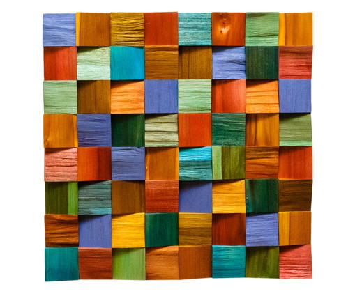 Quadro De Madeira 3D - Kaila, multicolor | WestwingNow
