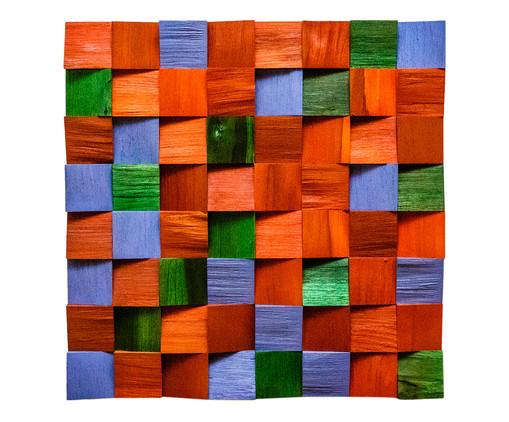 Quadro De Madeira 3D - Kauana, multicolor | WestwingNow