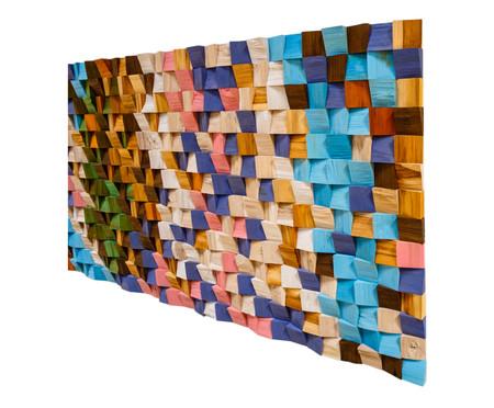 Quadro de Madeira 3D Maluhia Colorido - 170x70cm | WestwingNow