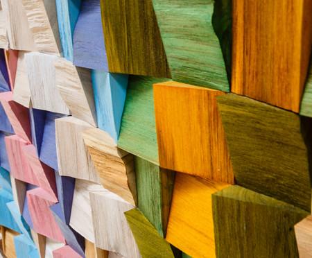 Quadros De Madeira 3D Maluhia - Colorido | WestwingNow