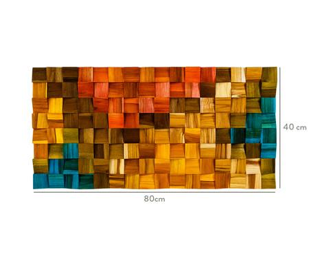 Quadro de Madeira 3D Wana - 80X40cm   WestwingNow