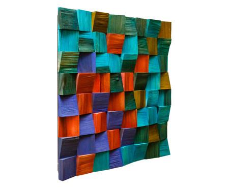 Quadro de Madeira 3D Malu Colorido - 40x40cm | WestwingNow