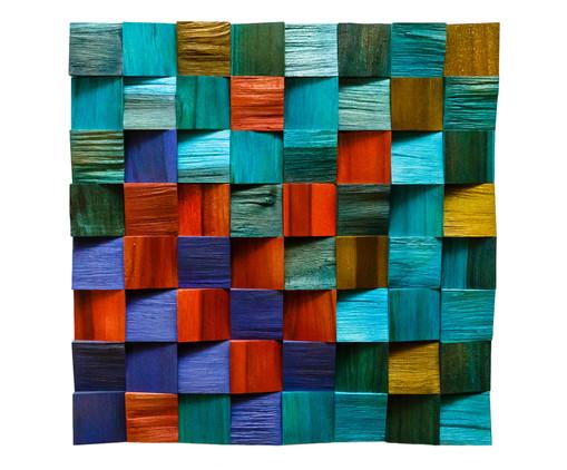 Quadros de Madeira 3D Malu - Colorido, multicolor | WestwingNow