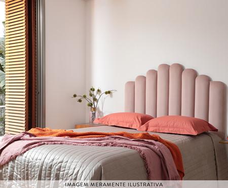 Cabeceira Painel em Veludo Royal Gomos - Rosa | WestwingNow