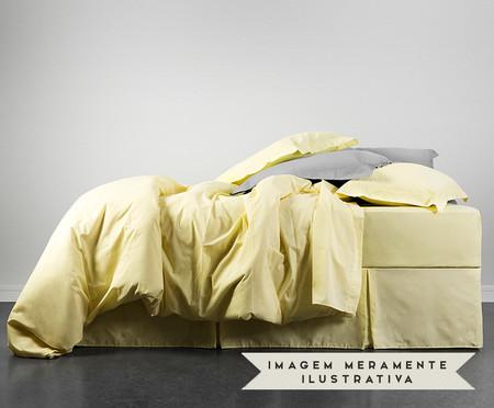Saia para Cama Box com Prega Lise Amarelo Pastel - 150 Fios | WestwingNow