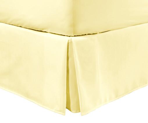 Saia para Cama Box com Prega Lise Amarelo Pastel - 150 Fios, Amarelo Pastel   WestwingNow