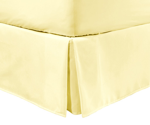 Saia para Cama Box com Prega Lise Amarelo Pastel - 150 Fios, Amarelo Pastel | WestwingNow