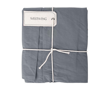 Saia para Cama Box com Prega Lise Fendi Concret - 150 Fios | WestwingNow