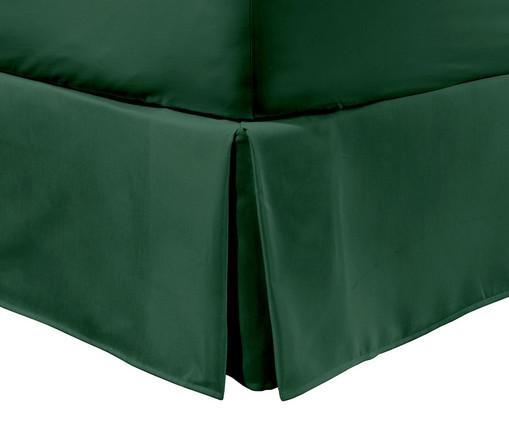 Saia para Cama Box com Prega Lise Verde Militar - 150 Fios, Verde Militar | WestwingNow