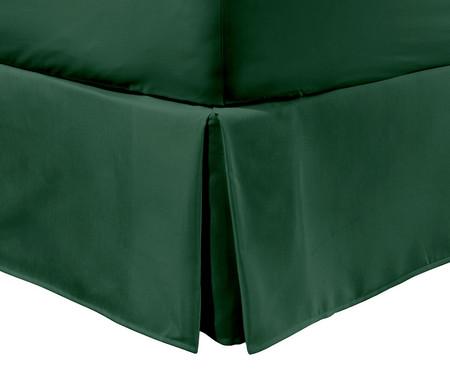 Saia para Cama Box com Prega Lise Verde Militar - 150 Fios | WestwingNow