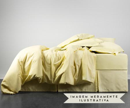 Lençol com Elástico Lise Amarelo Pastel - 150 Fios   WestwingNow