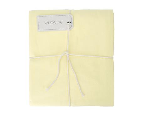 Lençol Inferior com Elástico Lise Amarelo Pastel - 150 Fios | WestwingNow