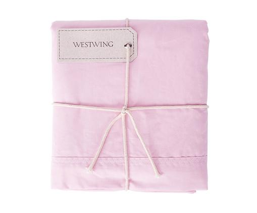 Lençol Superior Westwing Collection Lise 150 Fios - Rosa, Rosa Ballet | WestwingNow