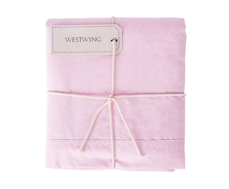 Lençol Superior Westwing Collection Lise 150 Fios - Rosa | WestwingNow