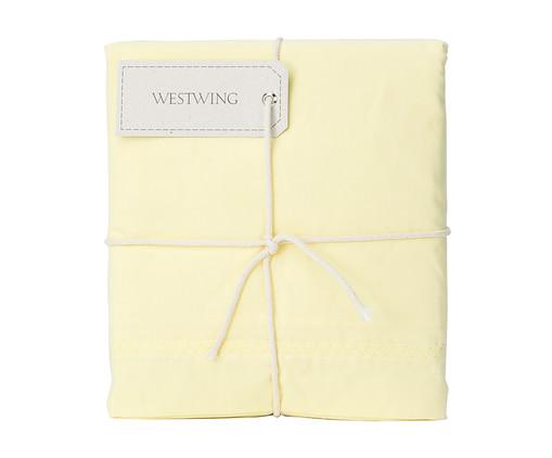 Lençol Superior Bordado Lise Amarelo Pastel - 150 Fios, Amarelo Pastel | WestwingNow