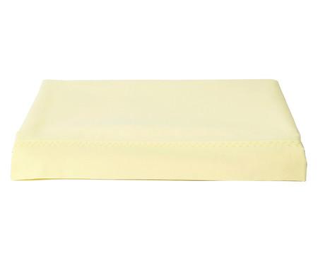 Lençol Superior Bordado Lise Amarelo Pastel - 150 Fios | WestwingNow
