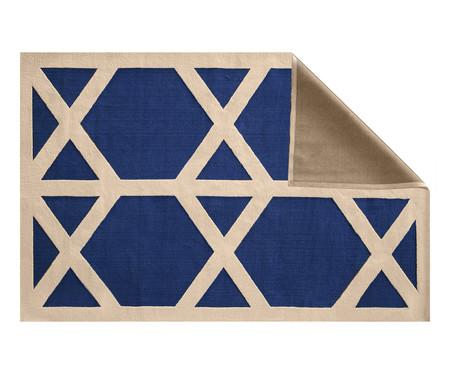Tapete Turco Doha Prime Frames - Marinho Cream | WestwingNow